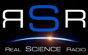 The Real Science radio logo is similar in appearance to the Real Science Friday logo.
