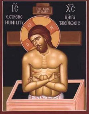 Extreme Humility. An Icon of Jesus Christ who emptied Himself for us.