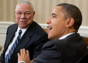 Colin Powell and President Obama