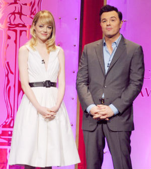 Emma Stone and Seth McFarlane announced the nominees for this year's Oscars in a ceremony today.