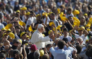 Pope comes to speak at his Wednesday Audience