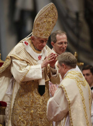 Pope ordaining Bishop