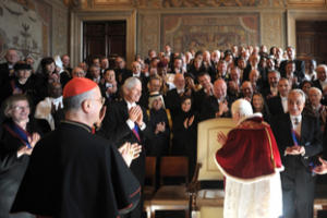 Pope Benedict XVI addressing Diplomatic Corps