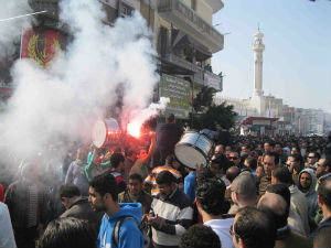 The cries of 'Down, down Morsi, down, down the regime that killed and tortured us!' filled the streets in Port Said.