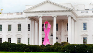 Obama adorned the White House with a pink ribbon last October. Absent were green and periwinkle ribbons.