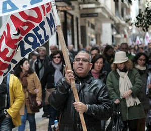 Strikes have picked up over the past few months, underscoring Greeks' anger at record high unemployment and poverty levels. French President Francois Hollande' visit this week in Athens went largely uncovered as Greek journalists were on strike.