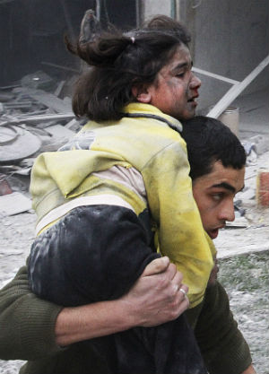 Involving three surface-to-surface missile strikes, the assault caused several buildings to collapse, according to the Syrian Observatory for Human Rights (SOHR), a U.K.-based anti-government rights group. There were children among the dead, the SOHR said.