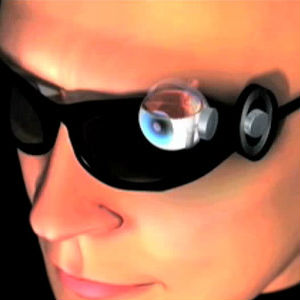 Described as a sheet of electrodes implanted in the eye, the patient using the artificial retina is also given glasses with an attached camera and a portable video processor.