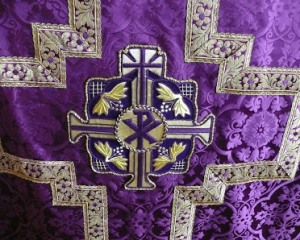 The purple vestments of the season of Lent beckon