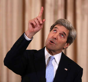 Secretary of State John Kerry speaking