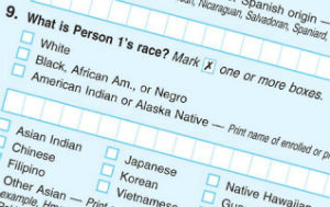 The current census form contains the word Negro. this will soon be changed.