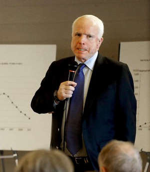 One of the eight senators in the group, Republican Senator John McCain had his own encounter with citizens angered by illegal immigration this week when Arizona residents complained bitterly at a town hall meeting about the lack of security on the border with Mexico.