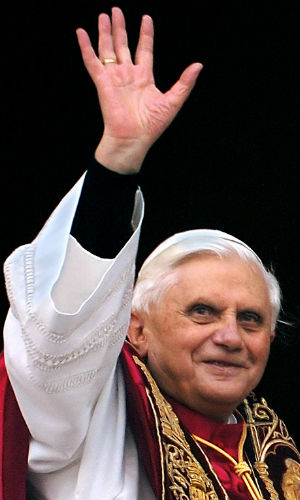 Pope Benedict's valedictory remarks, delivered from his seat at the front of the hall comments were an echo of the emotional and unusually personal address he gave to tens of thousands of pilgrims in his final public audience.