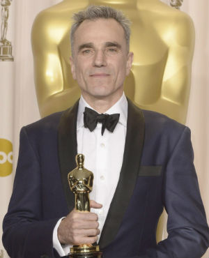 'I can't think of anyone right now because I need to have to lie down for a couple of years. No, I can't think of any. I really can't, no. It's really hard to imagine doing anything after this,' Daniel Day-Lewis remarked upon receiving his third highly coveted gold statuette.