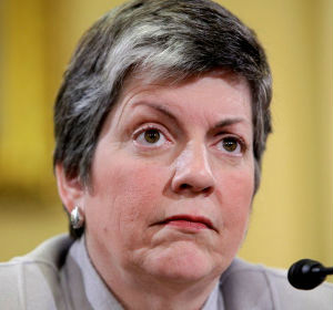 Janet Napolitano claims this wasn't her decision. 'Detainee populations and how that is managed back and forth is really handled by career officials in the field,' she told journalists.