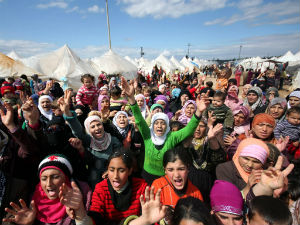 Refugee camps are filled with women and children. The men are either fighting or dead.
