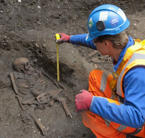 The skeletons will be reburied on the site or at a cemetery after the analysis is complete.