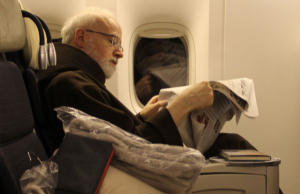 Cardinal Sean O'Malley of Boston on his way to the Vatican for the next conclave.