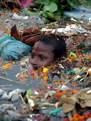 The new report released by the Center for Science and Environment says that the 'untreated waste dumped into rivers seeps into groundwater, thereby creating a ticking health bomb in India.'