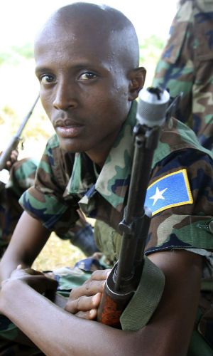 It's estimated that the average Somali soldier has 300 bullets to his name -- an amount that would be gone in three seconds in a rapid-fire situation.