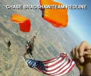 Craig Stapleton, along with dive partner Katie Hanson was attempting to do a 'down plane flag,' a complex trick that requires two skydivers to link up mid-air and unfurl a flag between them.