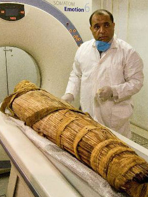 Researchers used CT scans to look at mummies from Egypt, Peru, southwest America, and the Aleutian Islands in Alaska. They found that 47 or 34 percent showed signs of definite or probably atherosclerosis.