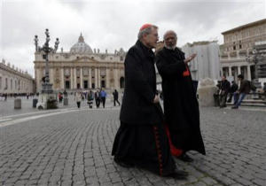 Even though first vote will take place Tuesday night, Cardinal Donald Wuerl of Washington D.C. told the La Stampa: 'The conclave will not be short.' Coming from a cardinal as diplomatic as Cardinal Wuerl, we would say that his comment is an accurate indicator of a serious division among the cardinals about their favorite candidates.