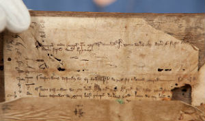 Hand written on parchment, the book is thought to have helped nuns decipher parts of the Bible. The book also contains explanations and the origins of difficult words.