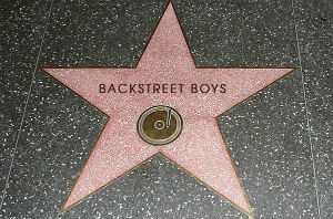 The Backstreet Boy's star on the Walk of Fame.