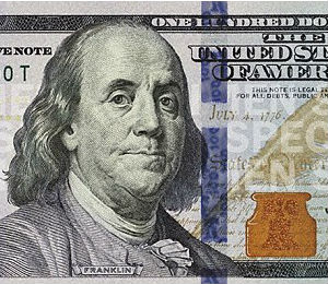 The new $100 bill includes a blue, 3-D security ribbon and a disappearing Liberty Bell in an inkwell that switches color from copper to green when tilted.