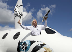 Sir Richard Branson is the man behind the world's first successful private, regular space-passenger initiative.