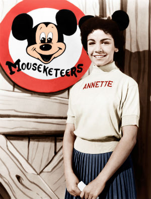 The adorable brunette was just 13 when she gained fame on Walt Disney's television kiddie 'club,' a combination of stories, songs and dance routines that ran from 1955 to 1959. She appeared in mouse ears, a pleated skirt and a sweater emblazoned with her name.