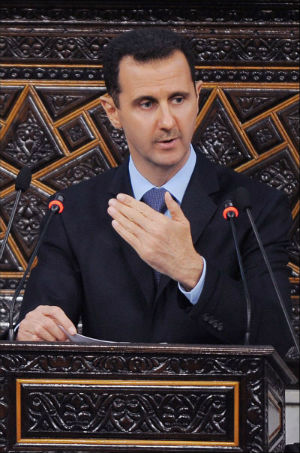 Assad figuratively slaps Obama, Obama wants more evidence of it.