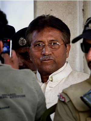 Retreating to a nearby farm, former Pakistani President Pervez Musharraf police set up a cordon restricting access to the area. It's not yet known whether the officers were preparing to detain him.