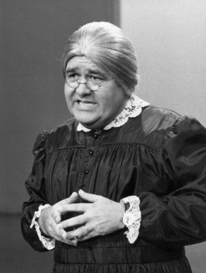 One of Jonathan Winters' most popular characters was 'Maude Frickert,' a sarcastic old lady.
