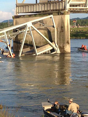 The Interstate 5 runs throughout the state of Washington, crossing the Skagit River at a number of different points. The bridge where the collapse happened was between Burlington and Mount Vernon.