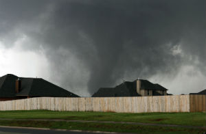 The deadly tornado as it approaches homes in Moore, OK.