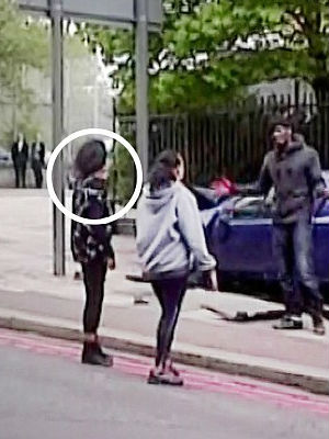 Twenty-year-old Gemini Donnelly-Martin (circled) along with her mom Amanda Donnelly confronted the suspected killers and asked the attackers if they could be by Drummer Lee Rigby's side.