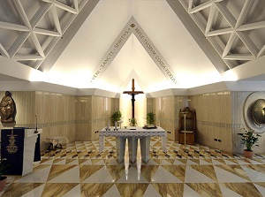 Chapel at Santa Marta where Pope Francis preaches daily