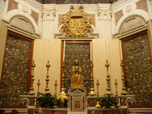 The relics of the 800 martyrs at the Cathedral in Otranto.