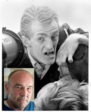 A former water contractor from Exeter, Devon, Graham Harrison (inset) woke up after a botched suicide attempt, amazed he was able to talk - because he was convinced he had no brain like one of the ghouls as seen in 'Night of the Living Dead.'