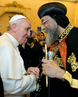 Pope Francis and Patriarch Tawadros II
