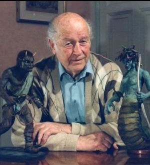 Ray Harryhausen was a definite 'hands on' type of guy when it came to special effects. His creatures were painstakingly animated and then photographed frame-by-frame.