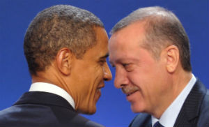 Obama and Erdogan in an earlier meeting at Cannes.