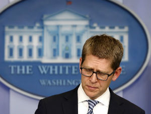 Jay Carney is on the defensive over the IRS scandal.