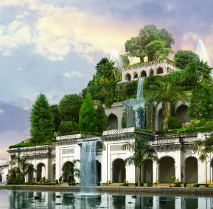 The Hanging Gardens are one of the seven wonders of the ancient world.