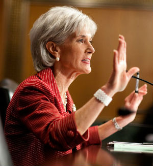 Kathleen Sebelius has reportedly solicited financial donations for Enroll America from H&R Block Inc, the tax preparation company, and the Robert Wood Johnson Foundation, a philanthropic entity devoted to public health issues.