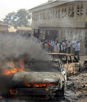 Nigeria also made the list for 'continuing religious violence between Muslims and Christians compounded by the government's toleration of the sectarian attacks'