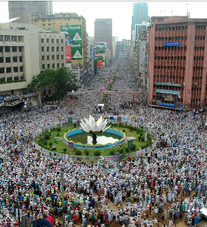 The protesters demand an anti-blasphemy law with provision for the death penalty and had previously announced their determination to shut down Bangladesh's main business hub Motijheel until the government accepts their demands.