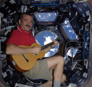 Chris Hadfield has a number of musical firsts in space.
